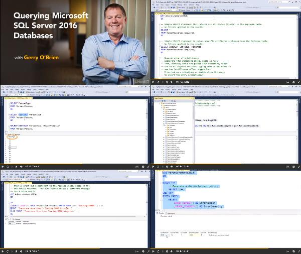 Querying Microsoft SQL Server 2016 Databases center