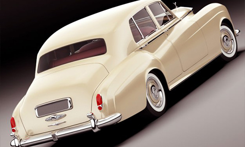 Rolls Royce Silver Cloud III 3D model center