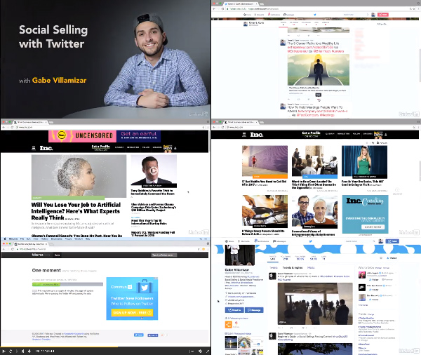 Social Selling with Twitter center