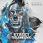 Street Drawing Photoshop Action logo