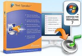 Text Speaker center