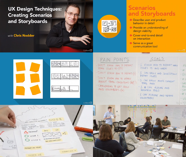 UX Design Techniques: Creating Scenarios and Storyboards center