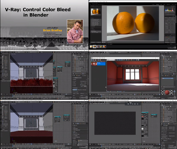 V-Ray: Control Color Bleed in Blender center