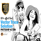 Vector Trace Solution Action logo