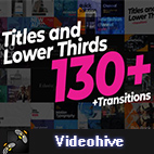 Videohive 130 Titles Lower Thirds logo