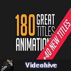 Videohive 180 Great Title Animations logo
