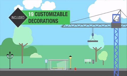 Videohive Flat City Vector center