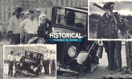 Videohive Historical Vintage Documentary Slideshow center