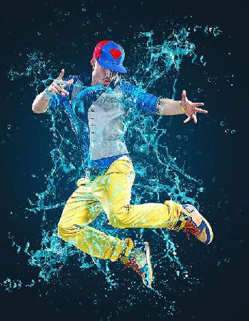 Water Splash Photoshop Action center