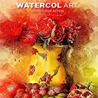 Watercol art Photoshop Action logo