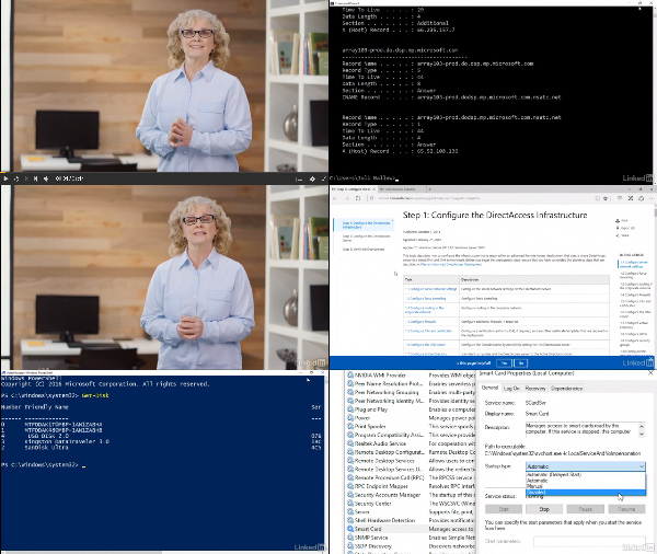 Windows 10: Configure and Support Core Services center