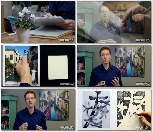 دانلود فیلم آموزشی Drawing Foundations: Fundamentals از Lynda