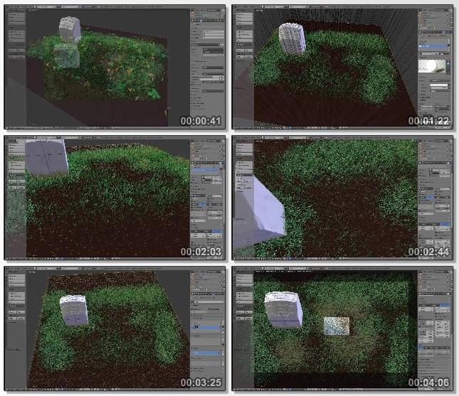 دانلود فیلم آموزشی Creating Grass in Blender از CGCookie