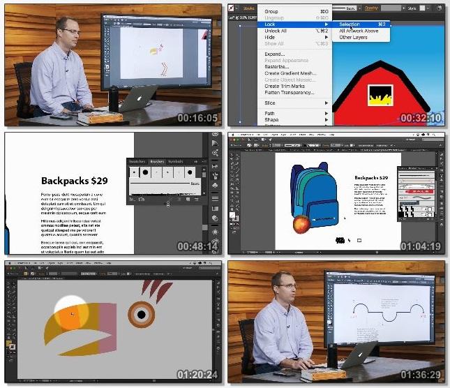 دانلود فیلم آموزشی Adobe Illustrator CC: Drawing & Editing