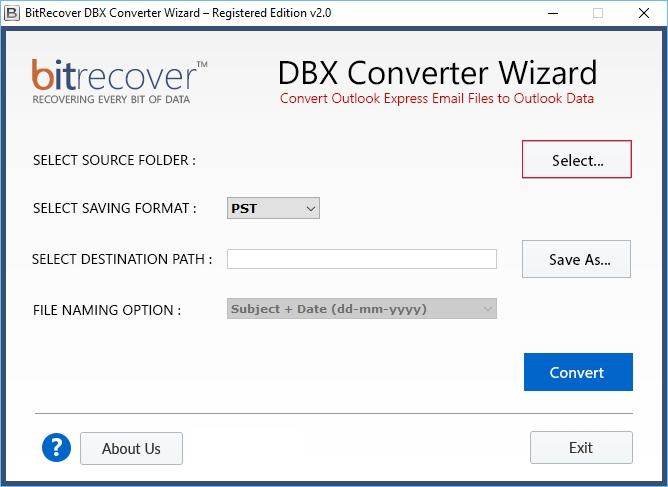 BitRecover PST Converter Wizard center