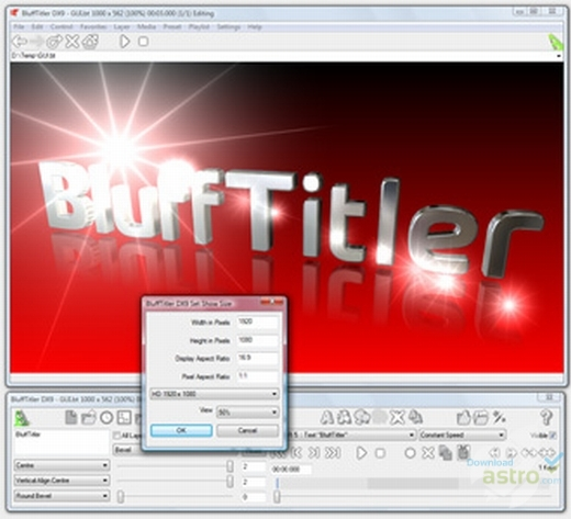 BluffTitler center