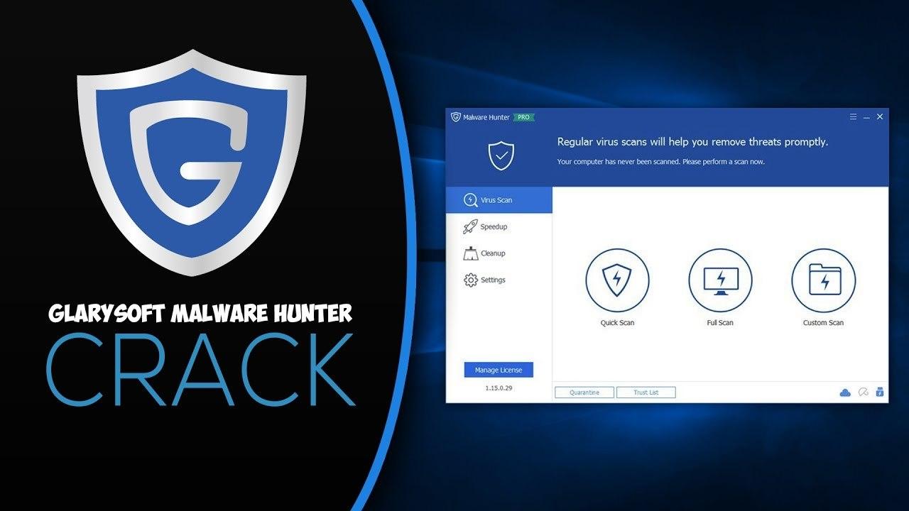 Glary Malware Hunter PRO center