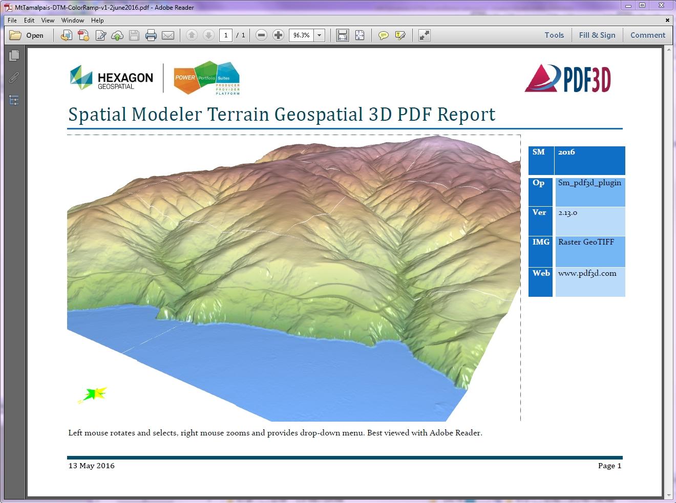 PDF3D ReportGen center