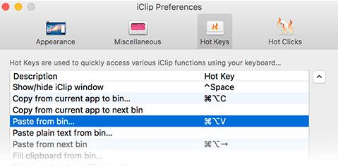 iClip 5.2.6b3 - Mac center