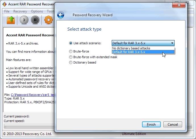 Accent RAR Password Recovery center - Screenshot-www.download.ir