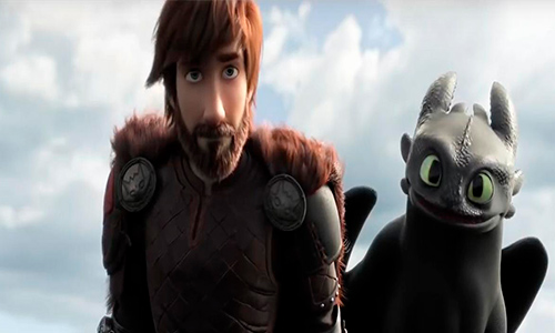 How to Train Your Dragon: The Hidden World 2019 center