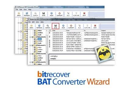 App BitRecover BAT Converter Wizard center www.download.ir