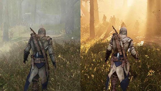 مقایسه assassins creed iii و assassins creed iii remasterd