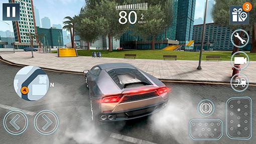 محیط Extreme Car Driving Simulator 2