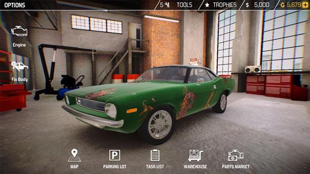 محیط بازی اندروید Car Mechanic Simulator 18