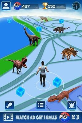 محیط بازی اندروید Jurassic GO