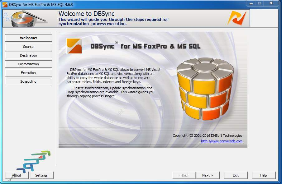 www.download.ir_DMSoft DBSync for FoxPro and MSSQL center
