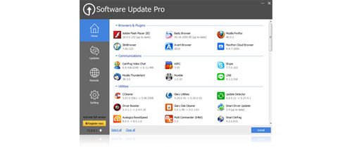 Glary.Software.Update.center عکس سنتر