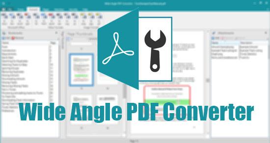 دانلود نرم افزار Wide Angle PDF Converter v1 09 - win