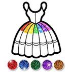 Glitter.Dress.Coloring