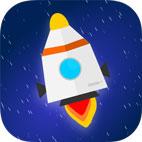 Space Rocket Lander Logo