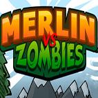 لوگوی بازی Merlin vs Zombies