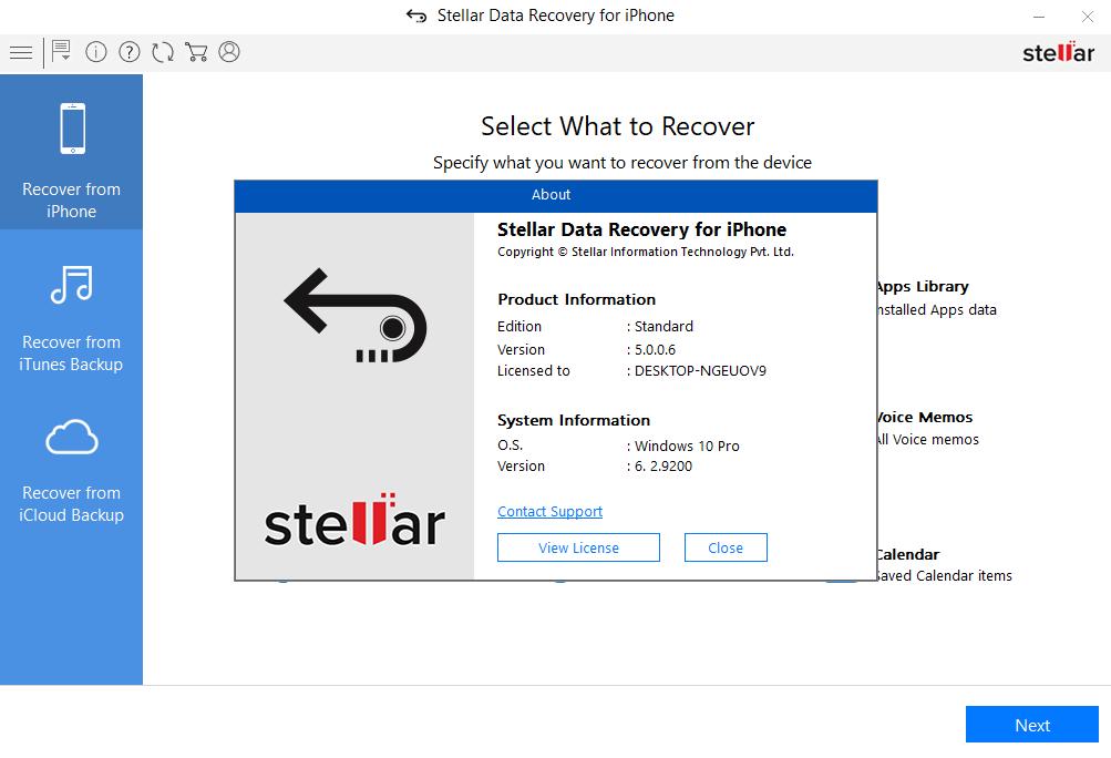 نرم افزار Stellar Data Recovery for iPhone 5.0.0.6