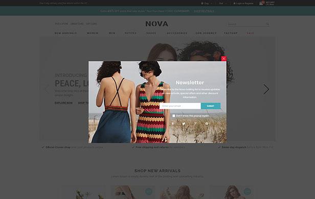 دانلود قالب اپن کارت مد و فشن نوا Nova v1.0.0 – Opencart
