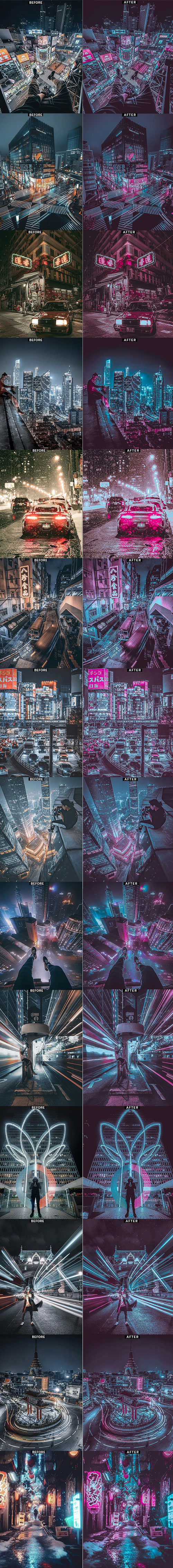 دانلود اکشن فتوشاپ ایجاد نورهای نئونی Modern Neon