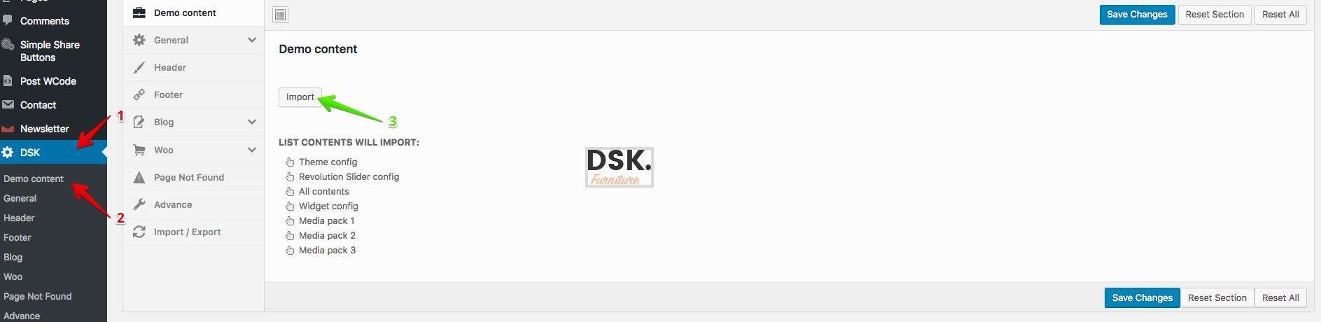 دانلود پوسته فروشگاهی مبلمان وردپرس DSK