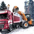 Loader and Dump Truck Winter SIM
